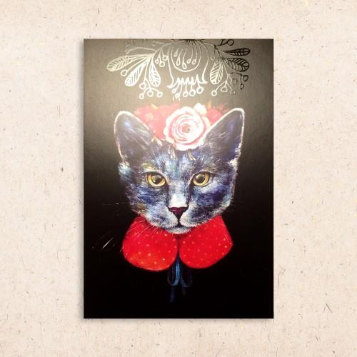 Atvirukas Katė gėlėta
